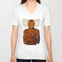 demon V-neck T-shirts featuring Demon by Rofi