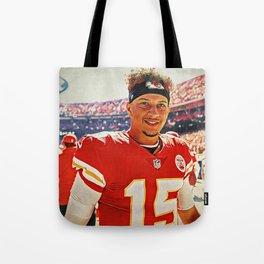 Chiefs Quarterback Patrick Mahomes Tote Bag