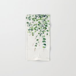 Eucalyptus Watercolor Hand & Bath Towel