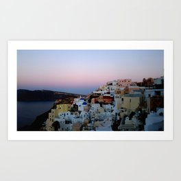 Dawn of Santorini Greece Art Print
