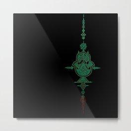 geometric hamsa  Metal Print