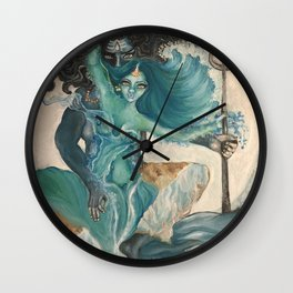 lord shiva and parvati Wall Clock