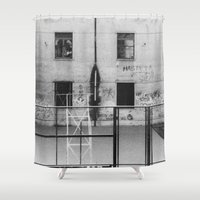 school Shower Curtains featuring School by Ibbanez