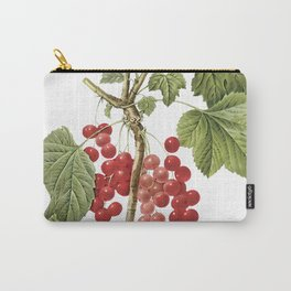 Botanical Print, Red Currant, Ribes Rubrum Carry-All Pouch