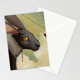 Melancholic rabbit Stationery Cards
