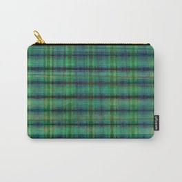 Forest Straw Plaid On Frozen Lake Carry-All Pouch