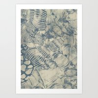 shells Art Prints featuring Shells by Laura Braisher