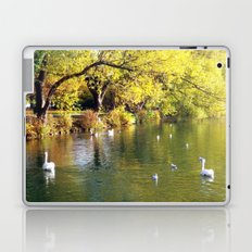 Autumn Mood at Lake Laptop & iPad Skin