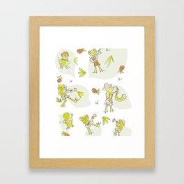 Frog Jamboree  Framed Art Print