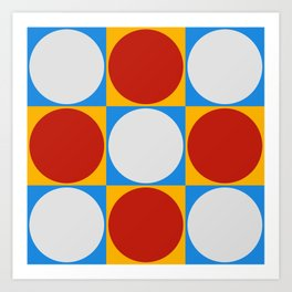 Dots on Checkerboard Art Print