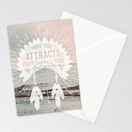 Your Vibe Attracts Your Tribe - Pacific Ocean Stationery Cards