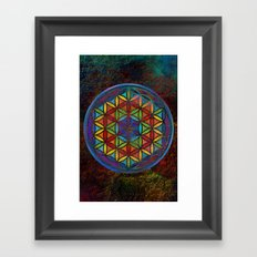 The Flower of Life (Sacred Geometry) 3 Framed Art Print