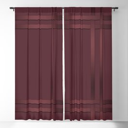 Red-brown, ribbon Blackout Curtain