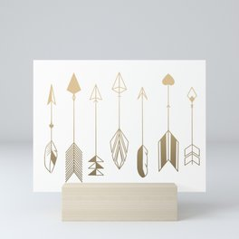 Be Brave Little Arrow (gold) Mini Art Print