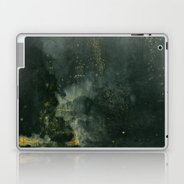 James Abbott McNeill Whistler - Nocturne in Black and Gold Laptop & iPad Skin