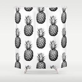 Black & White Pineapple Shower Curtain