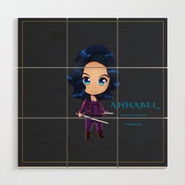 Annabel Chibi Wood Wall Art