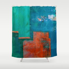 गंगा के किनारे (The Shores of Ganges) Shower Curtain