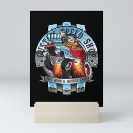 Custom Speed Shop Hot Rods and Muscle Cars Illustration Mini Art Print