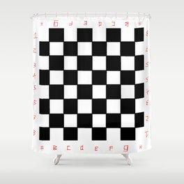 chessboard 2 Shower Curtain