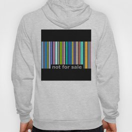 Not For Sale Barcode - Colorful Hoody