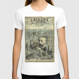 Vintage Jules Verne Periodical Cover T-shirt