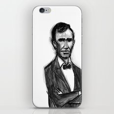 Abraham Lincoln Don't Have Time. iPhone & iPod Skin