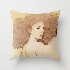Afro Queen Throw Pillow
