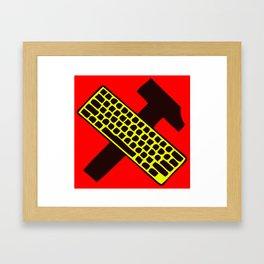 Hammer and keyboard  Framed Art Print