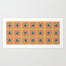 Wheat Check in Sunset Art Print