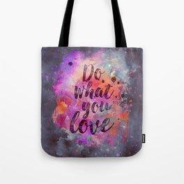 Do what you love! Orange Pink Typo Art Tote Bag