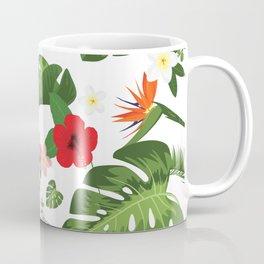 Tropical Flower Background Coffee Mug