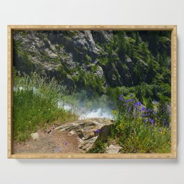 At the Edge of the Waterfall Serving Tray