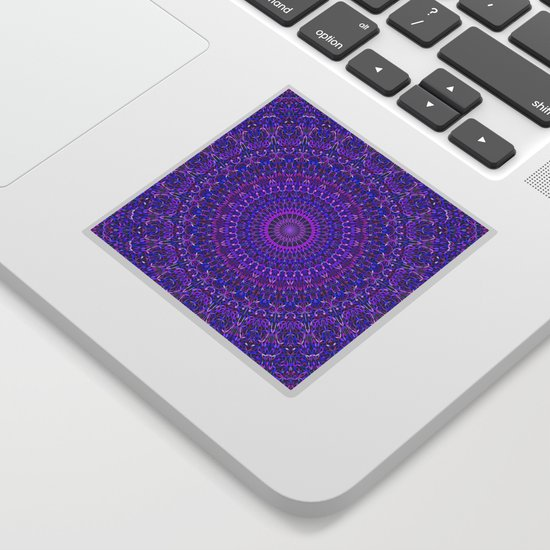 Lace Mandala in Purple and Blue by davidzydd