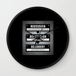 No Recovery With Obama Wall Clock
