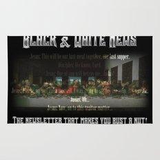 The Black & White Last Supper Rug