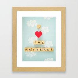 I Heart The Universe Framed Art Print