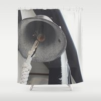 tinker bell Shower Curtains featuring Bell by Melissa Riley
