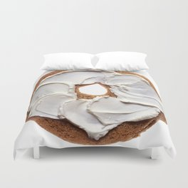 Bagel with Cream Cheese Duvet Cover