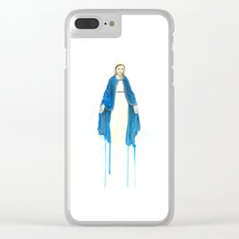 The Virgin Mary Clear iPhone Case