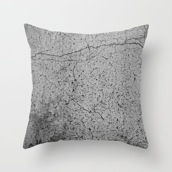 concrete 8 Throw Pillow