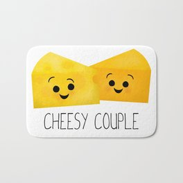 Cheesy Couple | Swiss & Cheddar Cheese Bath Mat