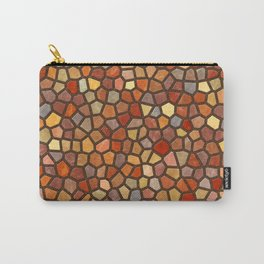 Fall Colors Mosaic Pattern - dark Carry-All Pouch