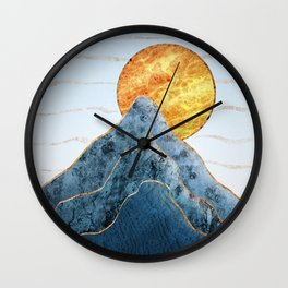 Sunset in the Volcanic Mountains Wall Clock