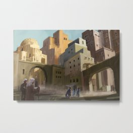 Fantasy Moroccan City Metal Print