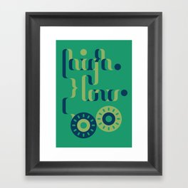 High Low Framed Art Print