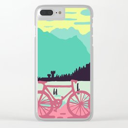 Bicycles on the lake Clear iPhone Case