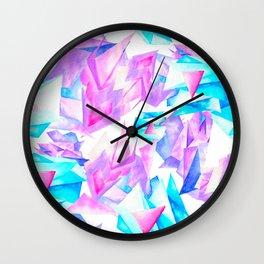 Watercolor Quartz Fragmentation Wall Clock