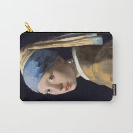 Girl with a Pearl Earring, classic painting Carry-All Pouch