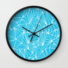 Ab Fan Electric Blue Wall Clock